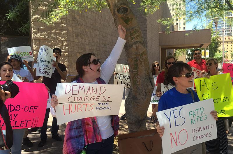 APS protestors
