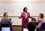 Photo of classroom instruction at University of Phoenix