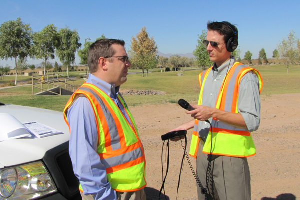 Photo of Director of Development Services Brent Billingsley from the City of Maricopa and KJZZ News Director Peter O'Dowd