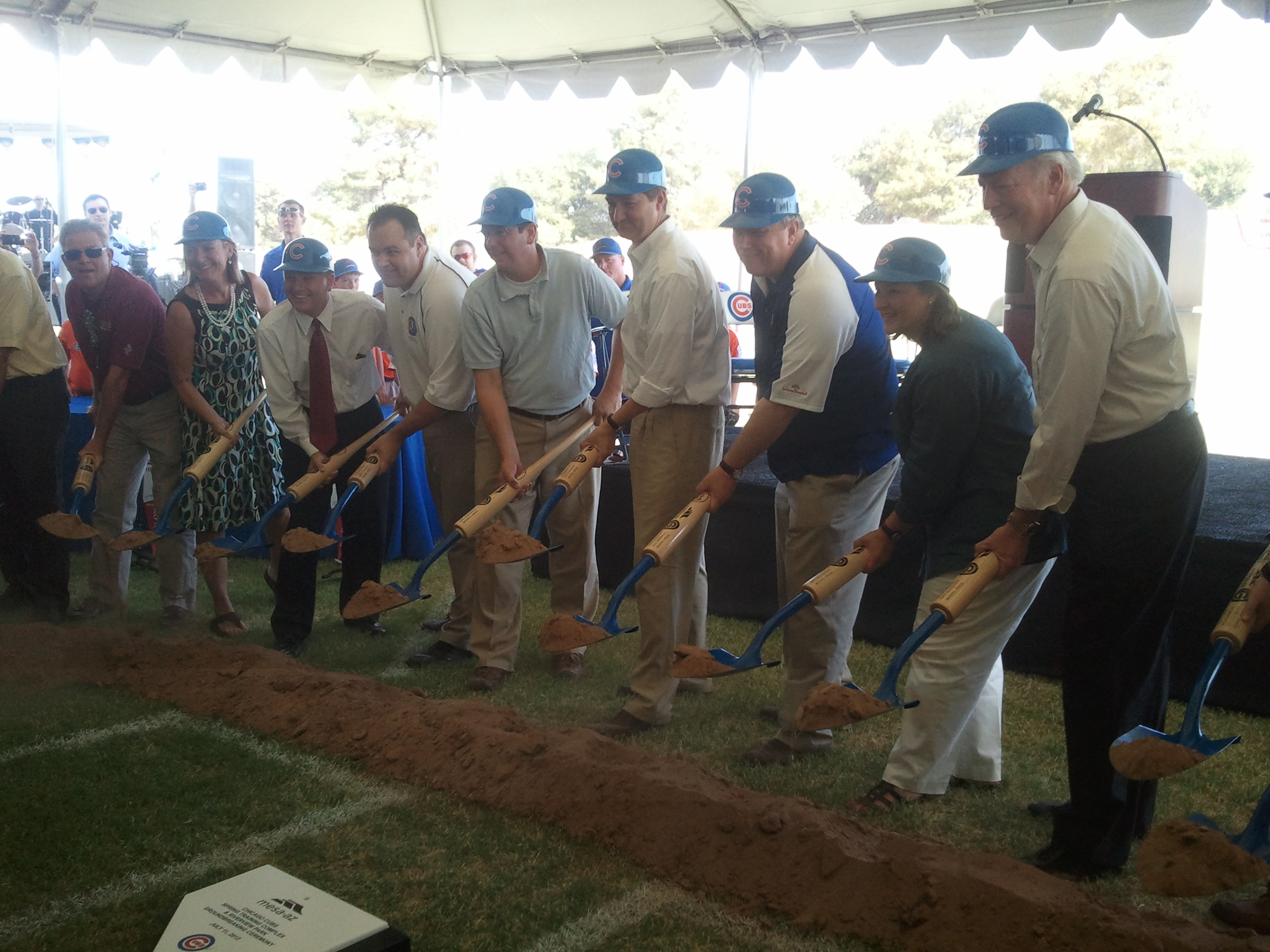 Chicago Cubs groundbreaking