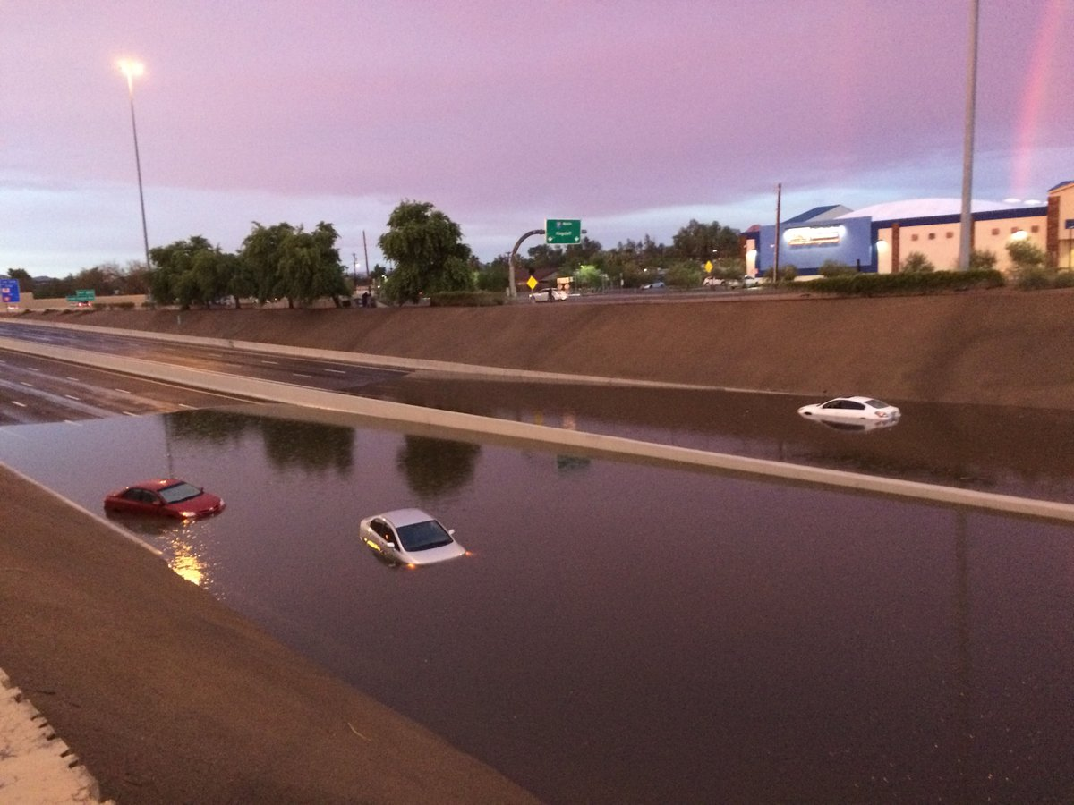 Flooding closed Interstate 17