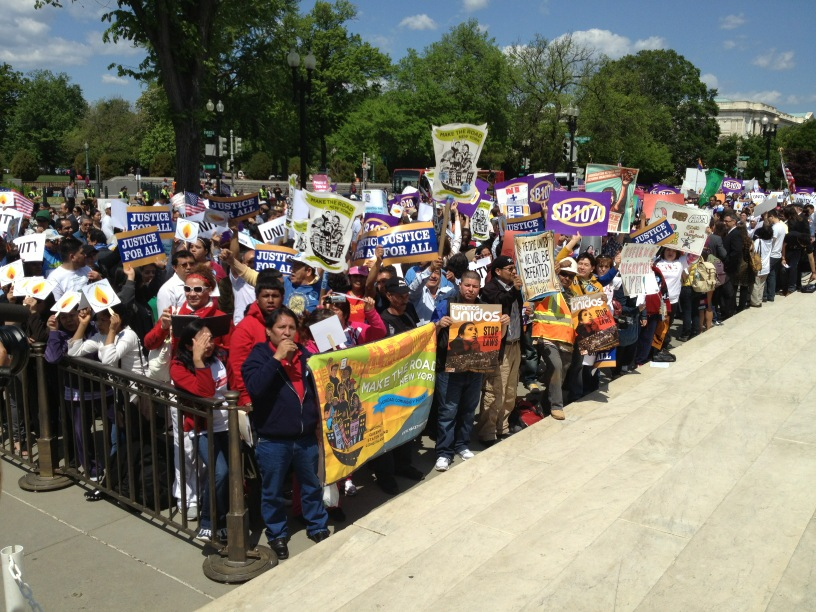Crowds at SCOTUS hearing