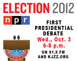 NPR Election 2012 Coverage of First Presidential Debate on Wednesday, Oct. 3, 6-8 p.m. on 91.5 FM and KJZZ.org