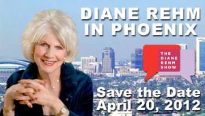 Diane Rehm in Phoenix, Save the Date, April 20, 2012