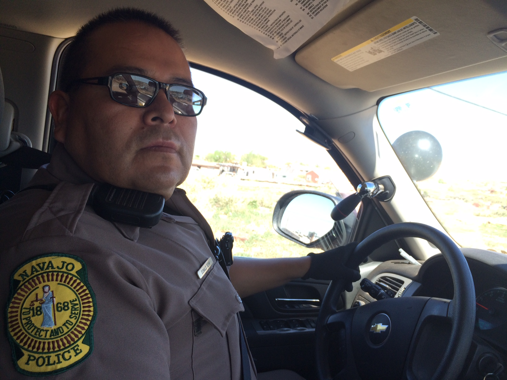 Navajo Nation police Officer Donald Seimy
