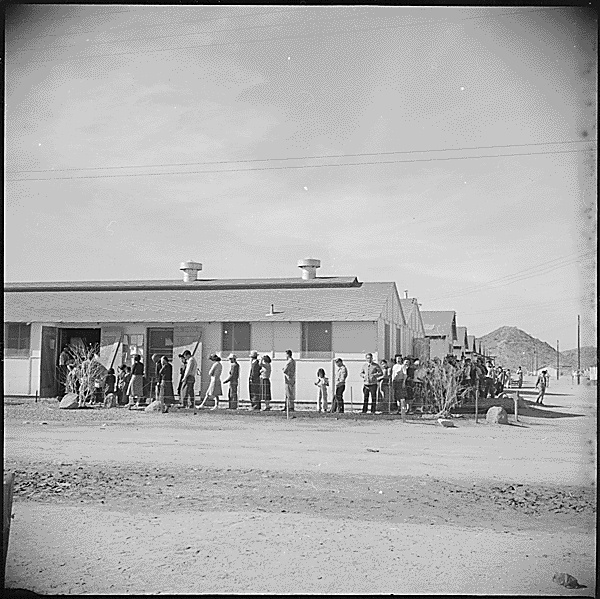Mess hall at Gila River Relocation Camp