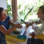 Paluzzi interviewing his teacher