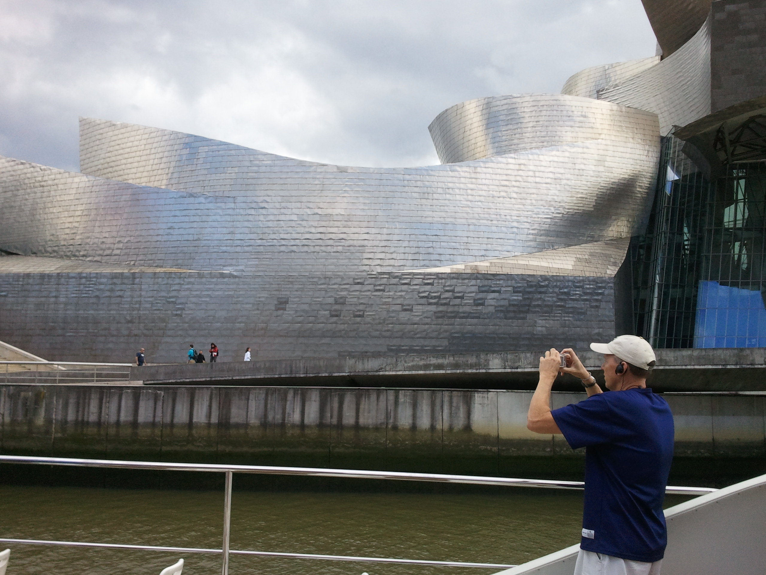 No one can resist taking pictures of Bilbao's Guggenheim museum (photo credit: Dr. Jim Paluzzi)