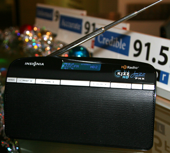 Photo of Insignia HD radio at KJZZ studios