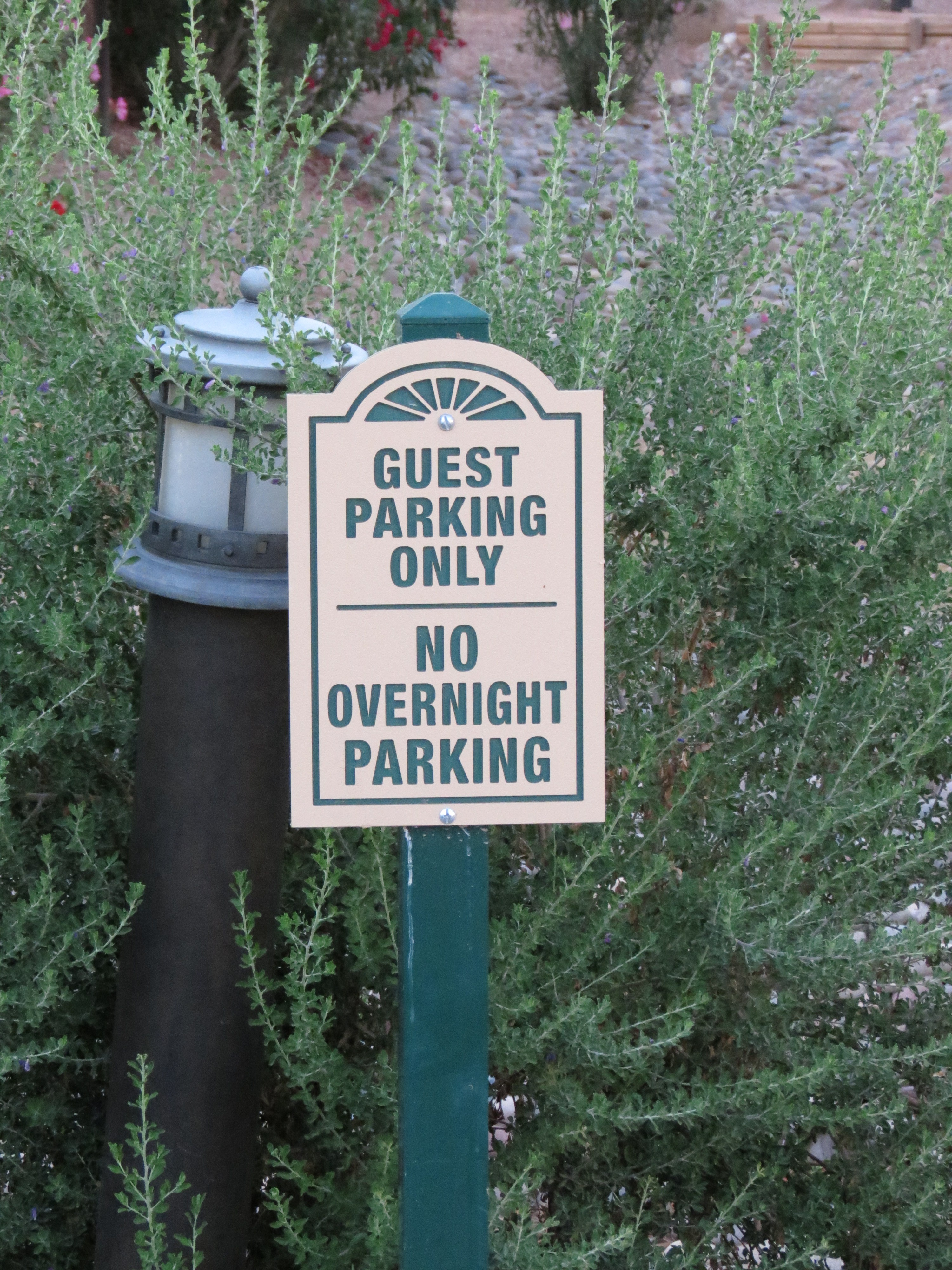 Guest parking spot at the Pueblo at Andersen Springs