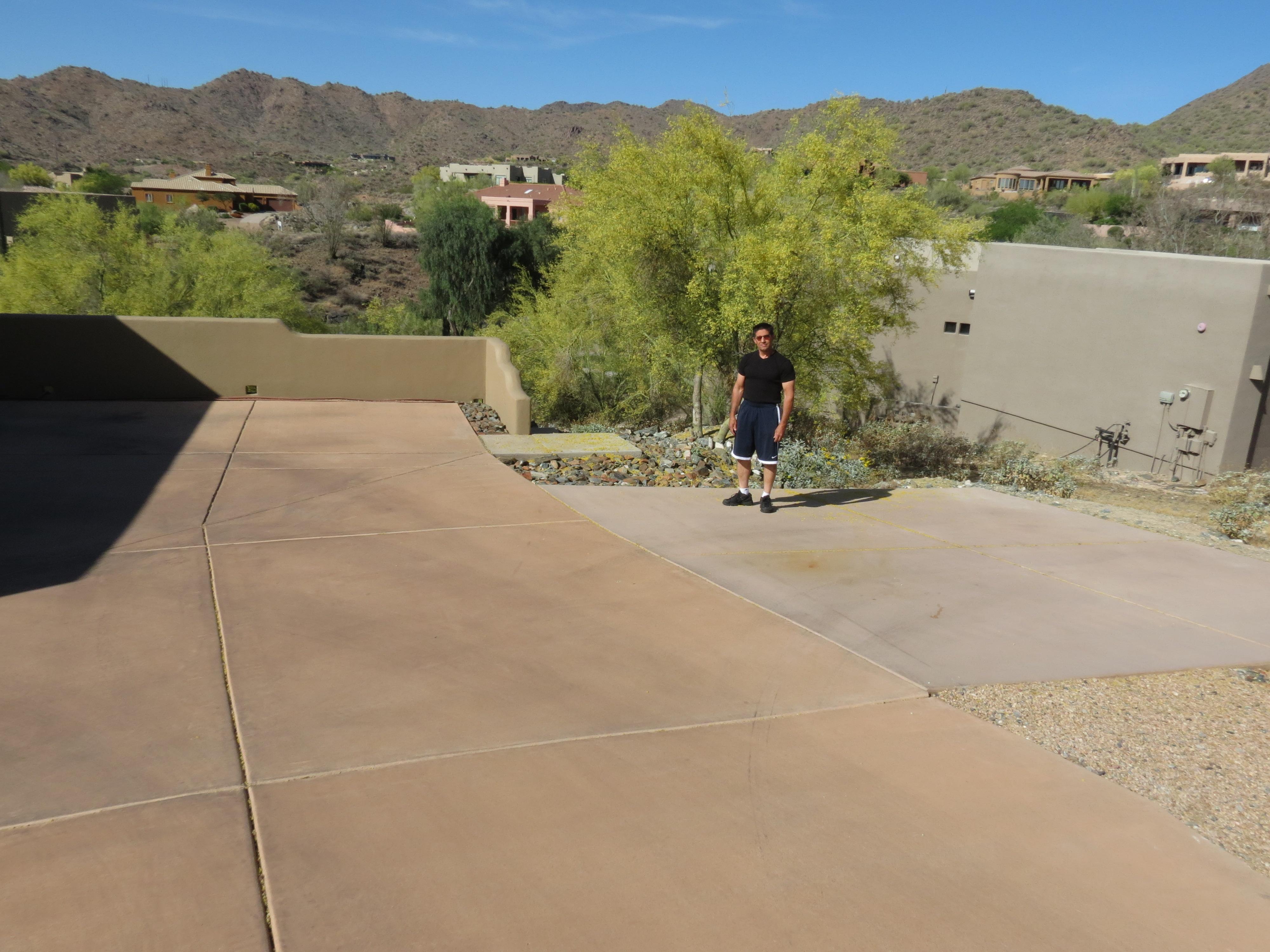 Mark Van Boeckel stands in his driveway