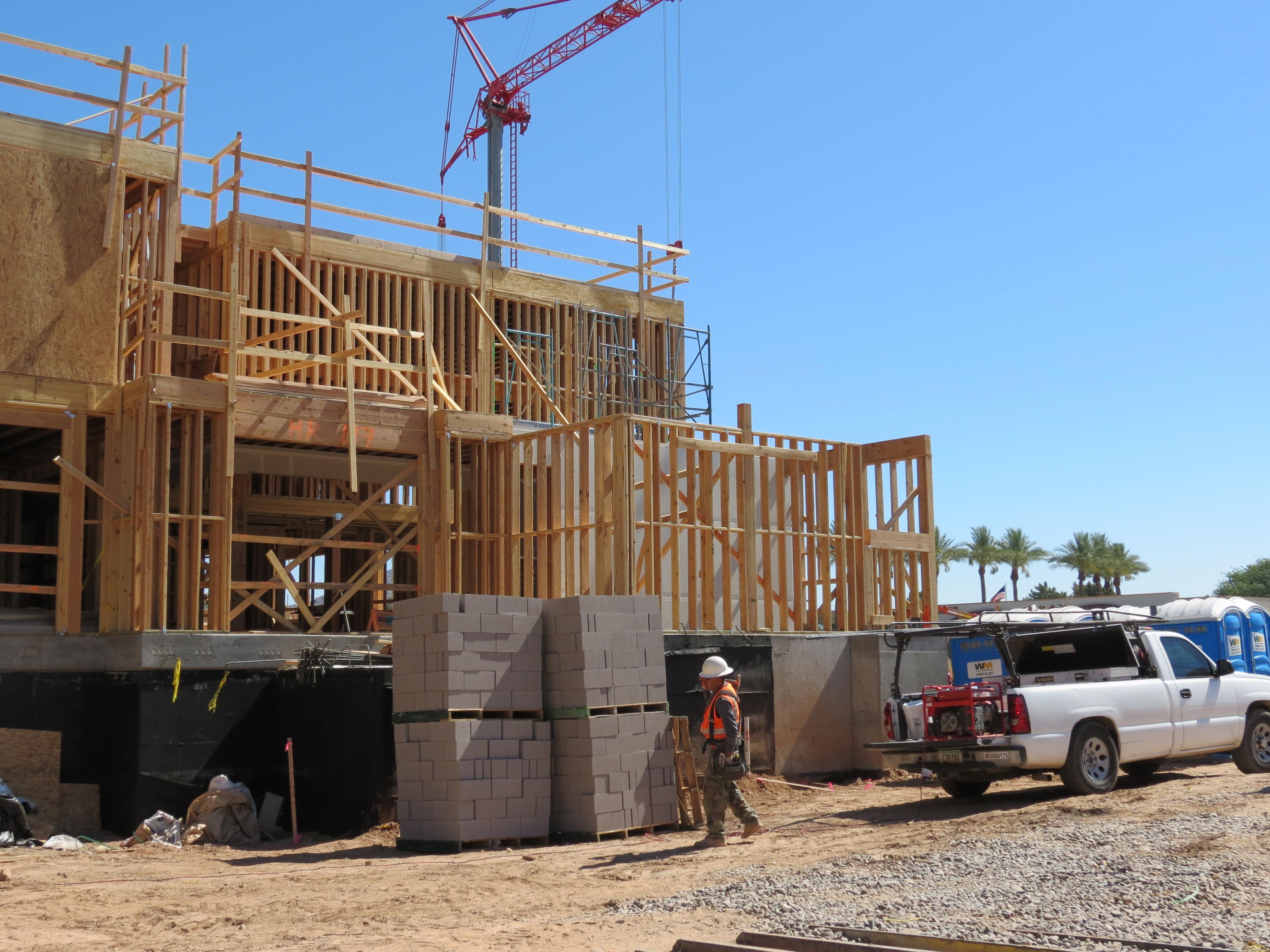 New apartment construction in Phoenix