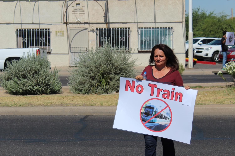 South Phoenix light rail protest sign