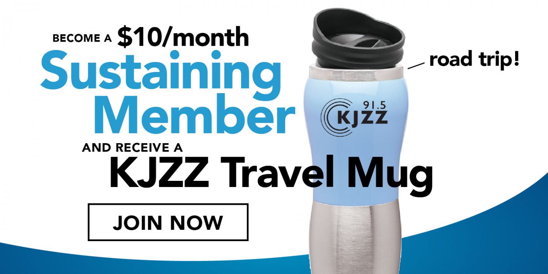KJZZ Travel Mug