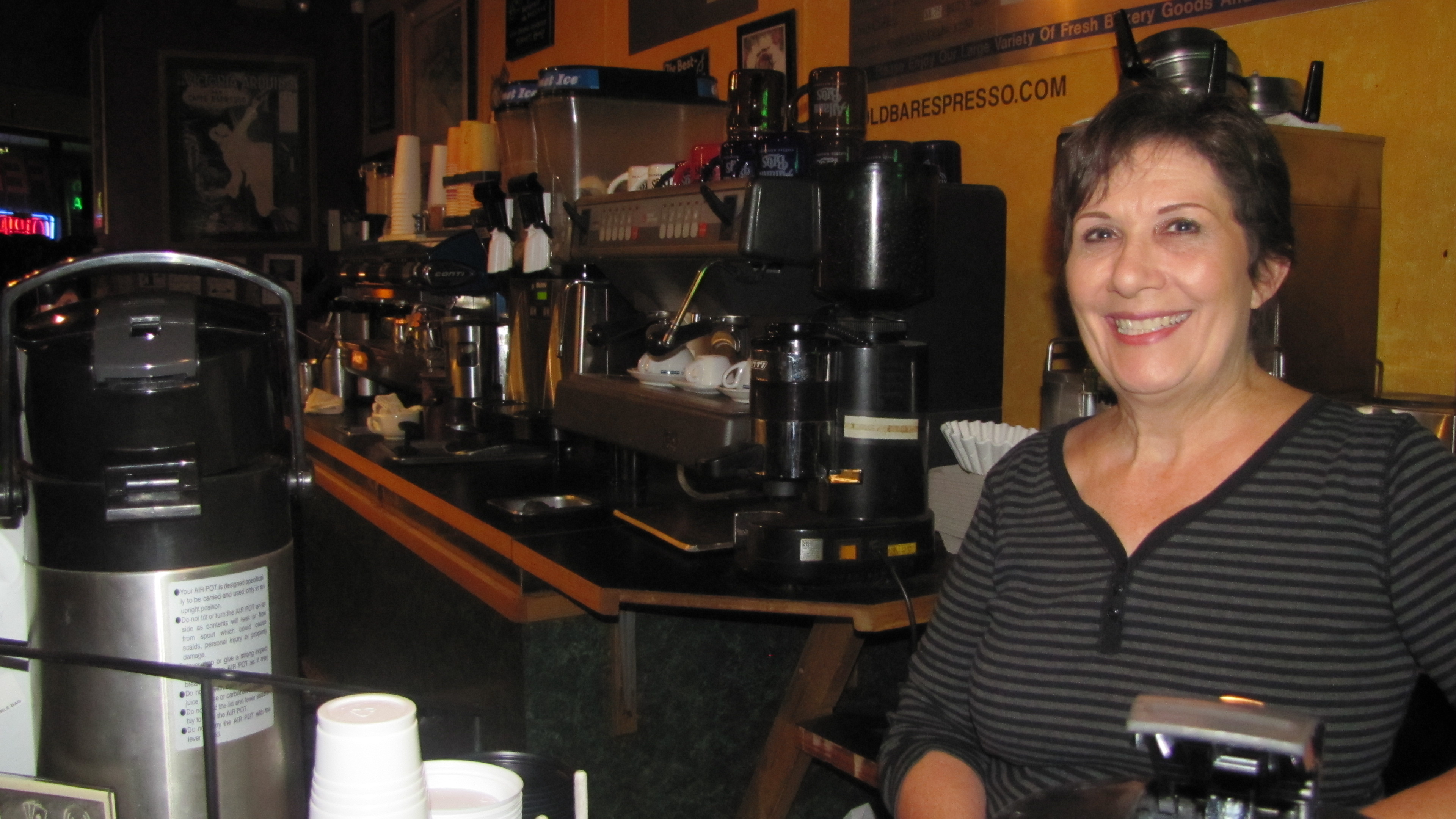 Karen Miller, Owner of Gold Bar Espresso in Tempe