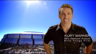 Former Arizona Cardinal Kurt Warner appears in TV ad promoting Arizona