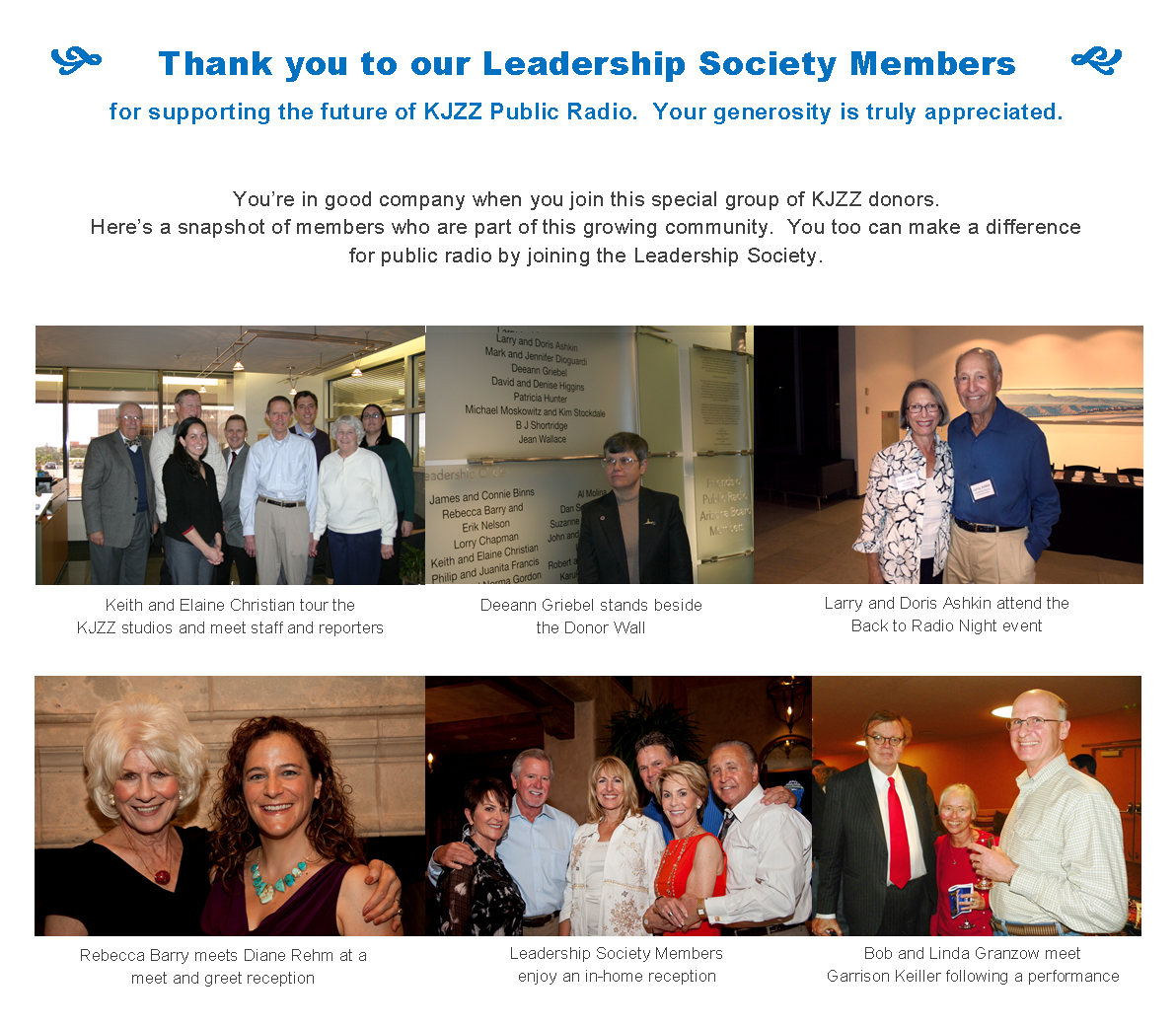 Leadership Society Members