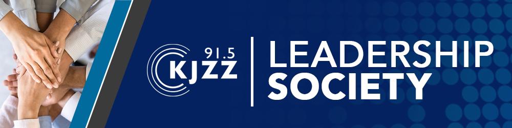 KJZZ Leadership Society banner