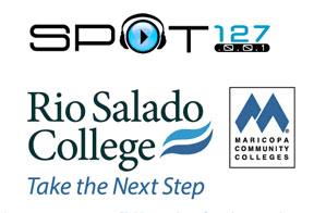 KJZZ SPOT 127, Rio Salado and Maricopa Community Colleges logos