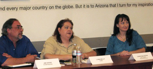 Photo caption: Jim Cross (KTAR), Lynn Kelly (KJZZ) and Christina Estes (KFYI)