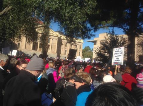 Marchers gather in Phoenix