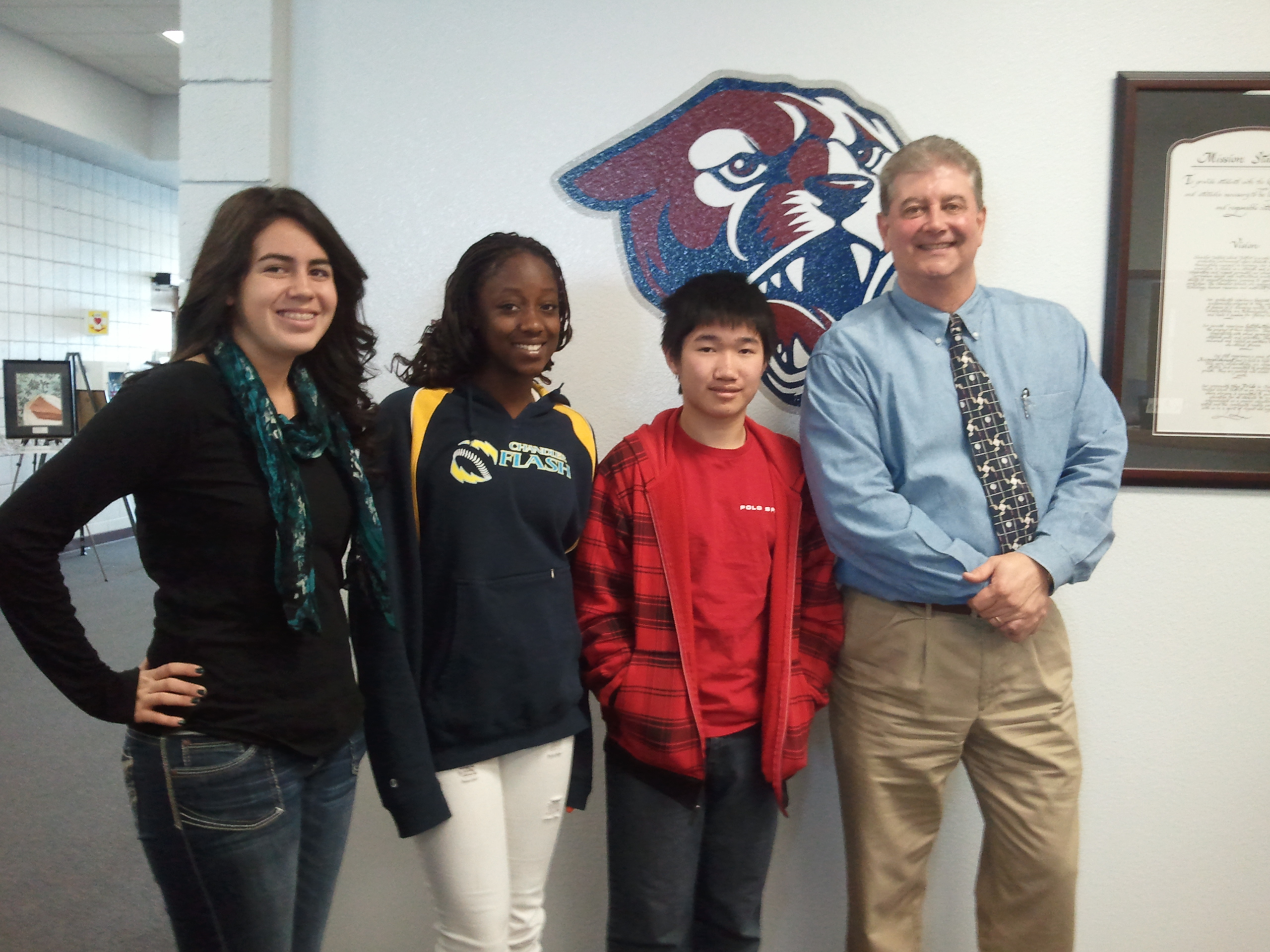 Perry High School Students and Administrator