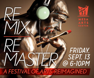 Mesa Arts Center Remix Master Event Poster