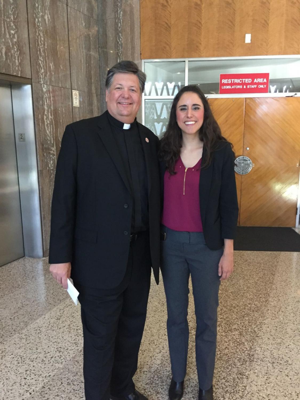 The Rev. David Felten and Rep. Athena Salman