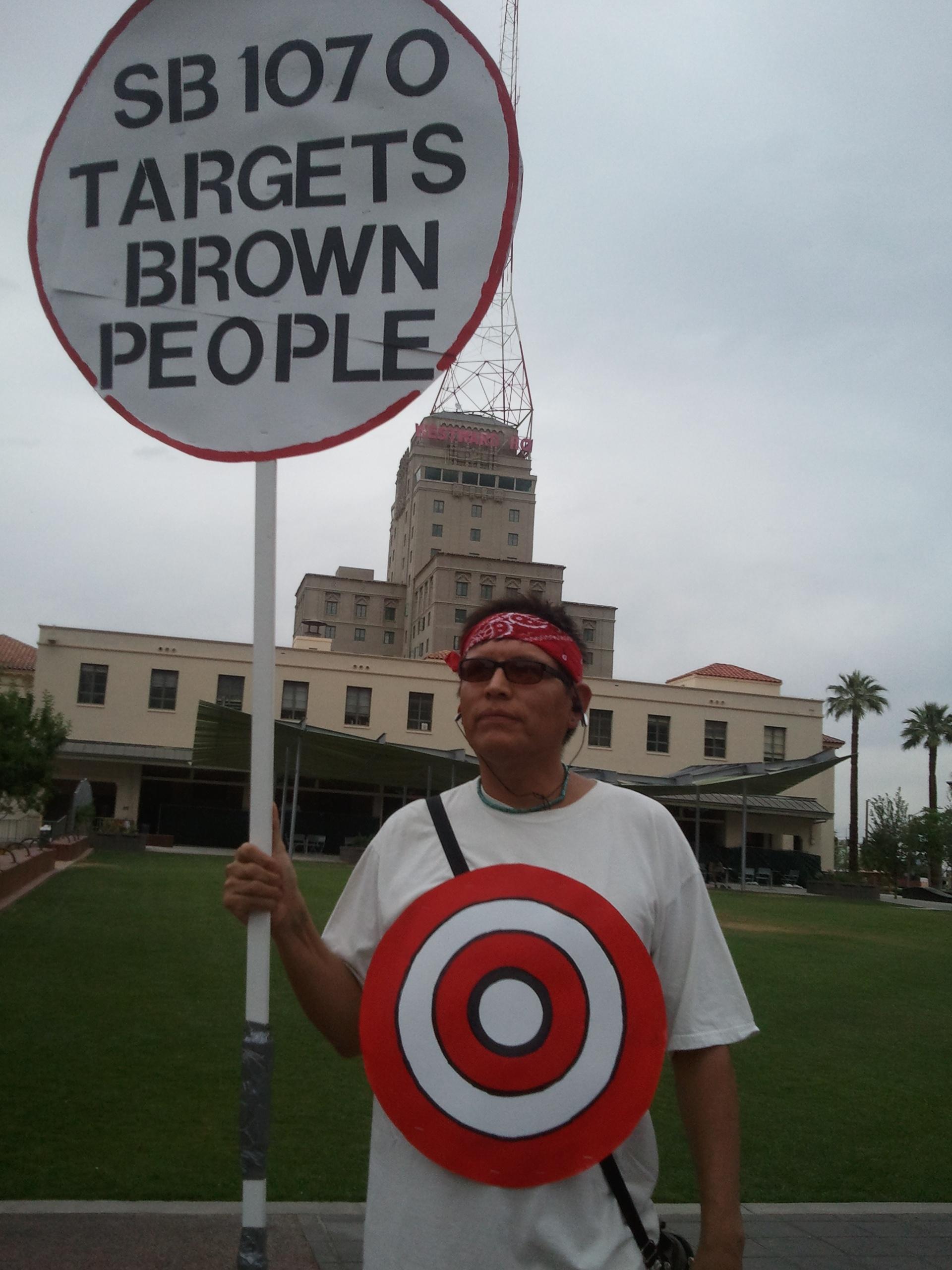 SB 1070 protester