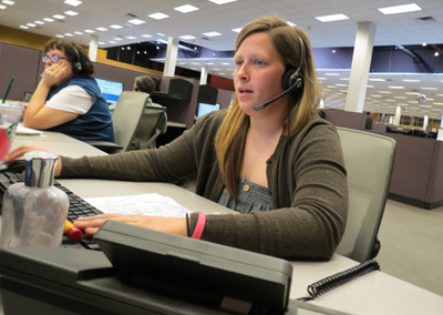 Safelite customer service representative Kelly Durkin