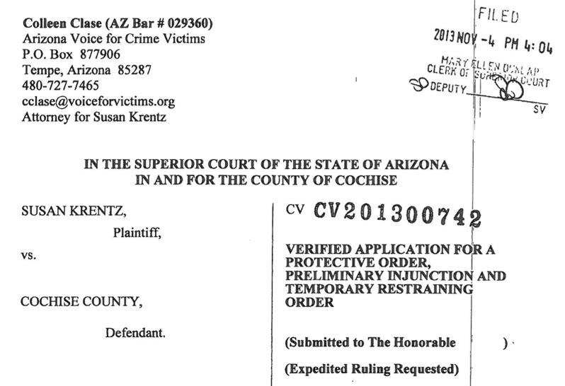 Court Sides With Fronteras Desk For Border Murder Case Files – Sample Case File