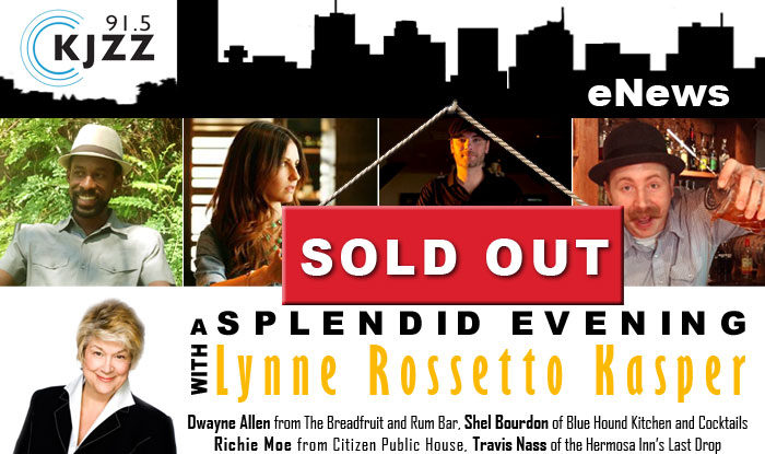 SOLD OUT: A Splendid Evening with Lynne Rossetto Kasper and Dwayne Allen from The Breadfruit and Rum Bar, Shel Bourdon of Blue Hound Kitchen and Cocktails