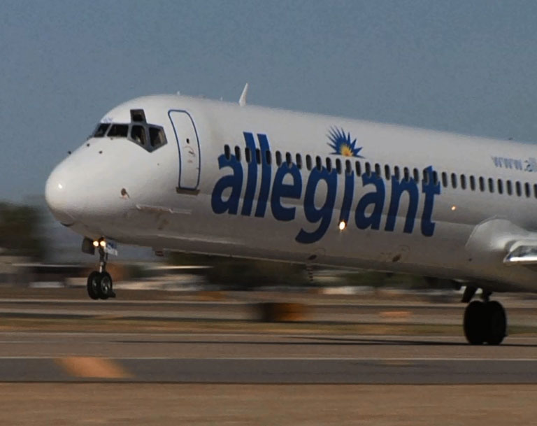 What are some cities Allegiant Air flys to out of Ogden, Utah?