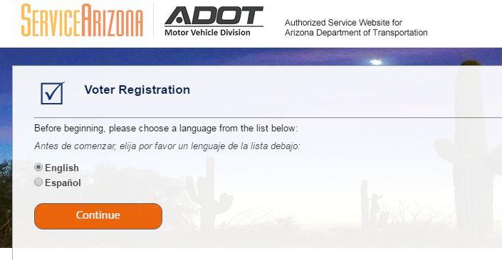 voter registration page