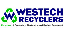 Westtech Recylers logo. Recylers of Computers, Electronics and Medical Equipment.