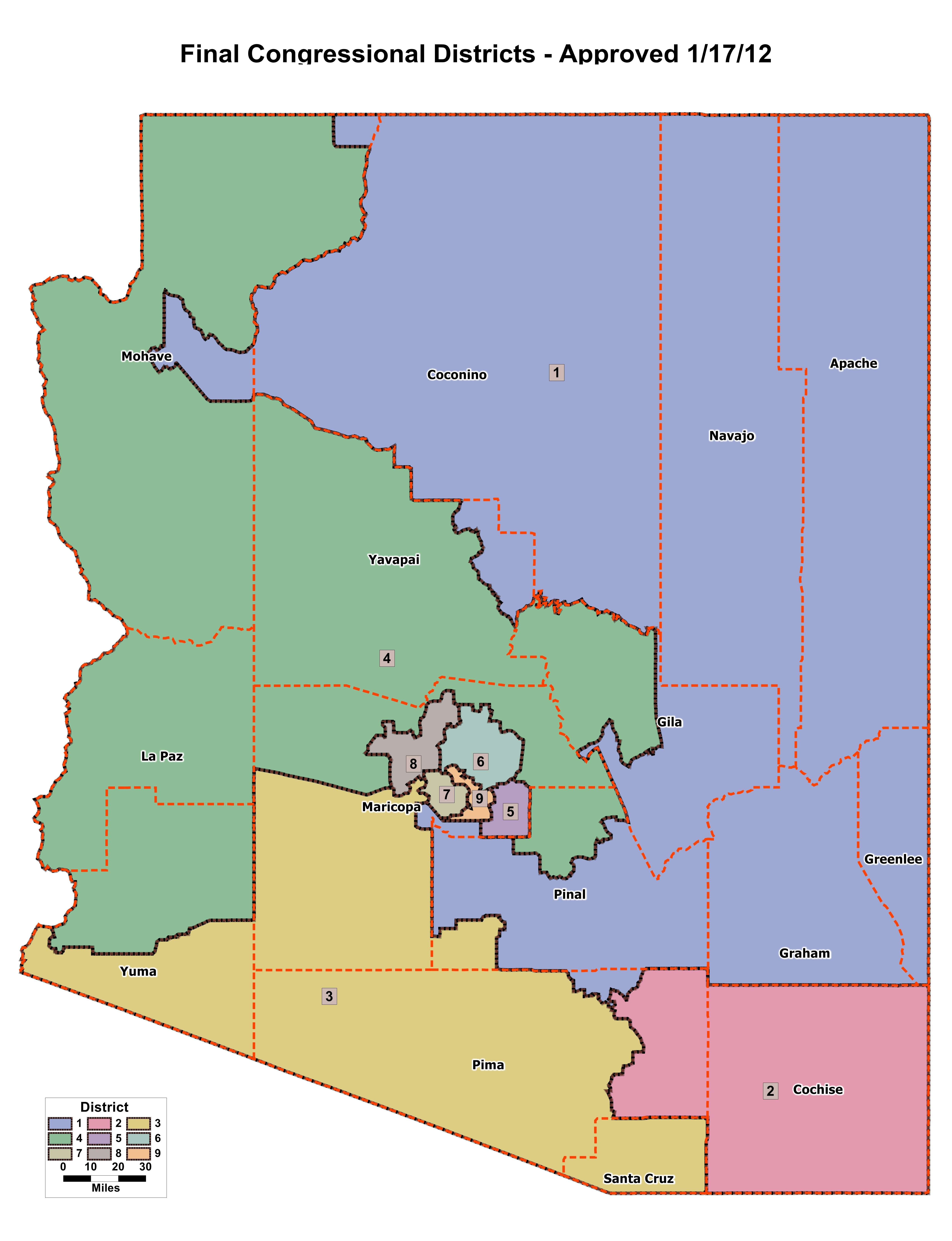 Arizona Congressional Districts
