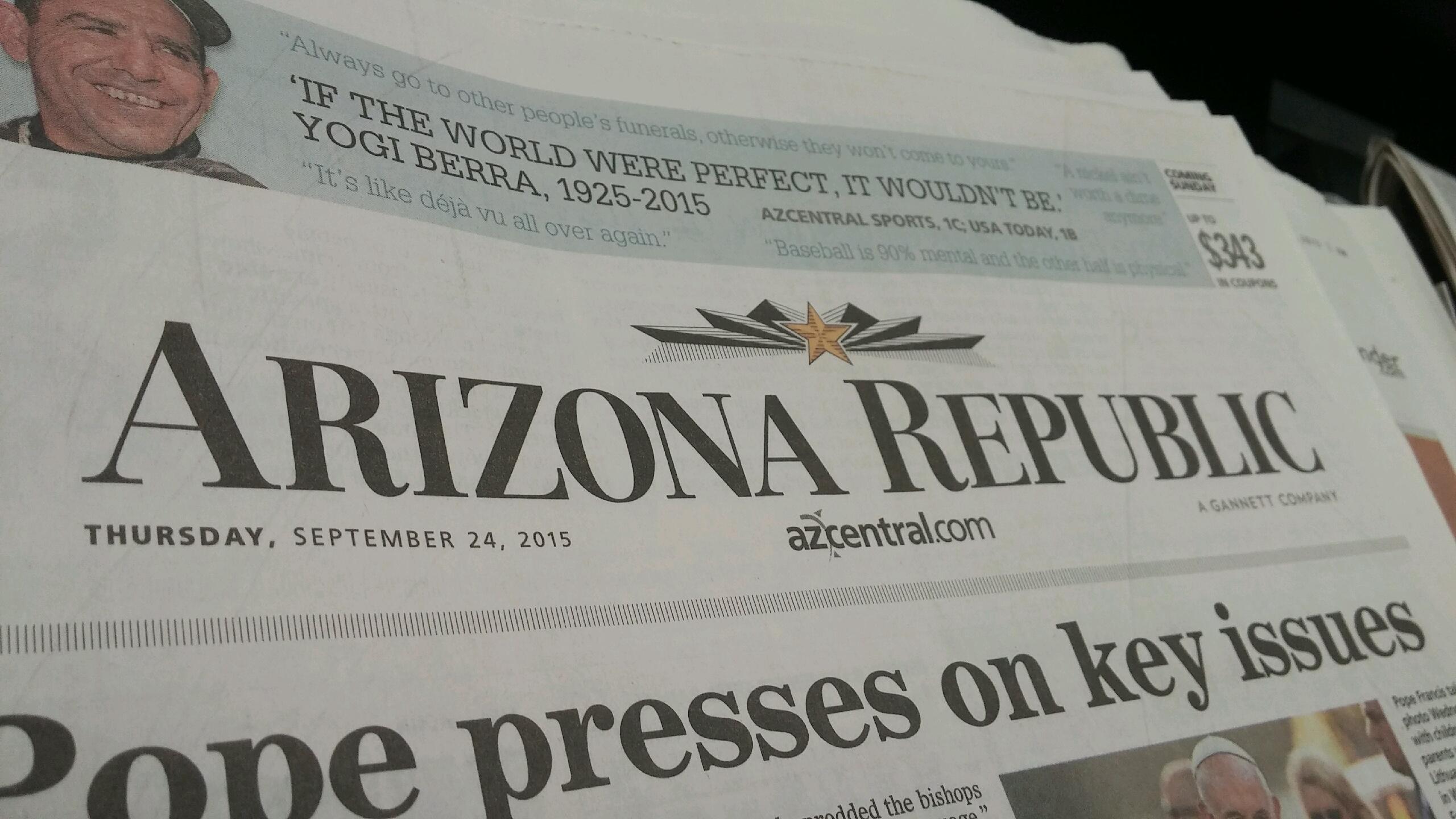 Vulture Capitalist' Firm Eyes Gannett, Arizona Republic   KJZZ