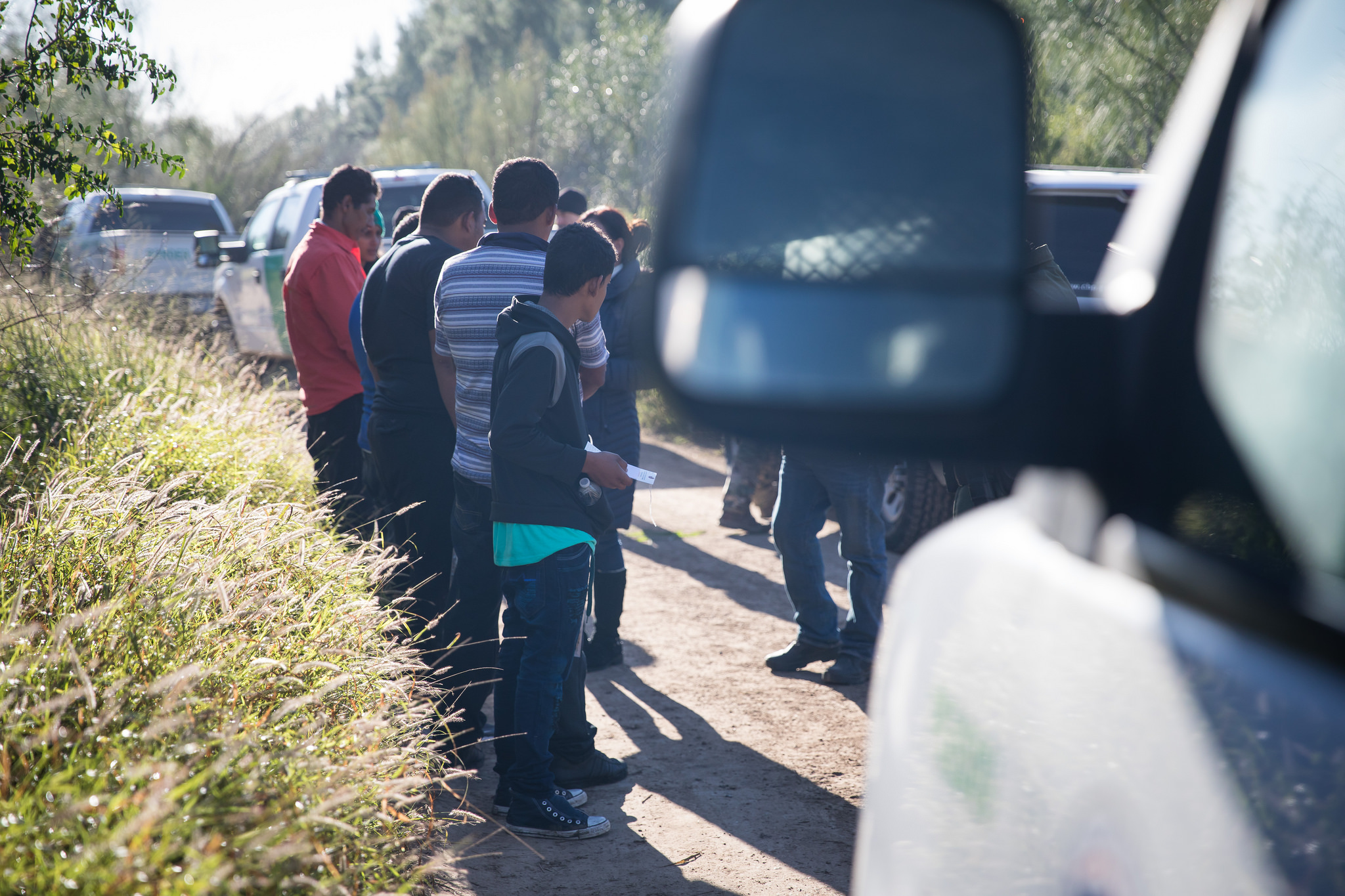U.S. Border Patrol agents arrest undocumented migrants