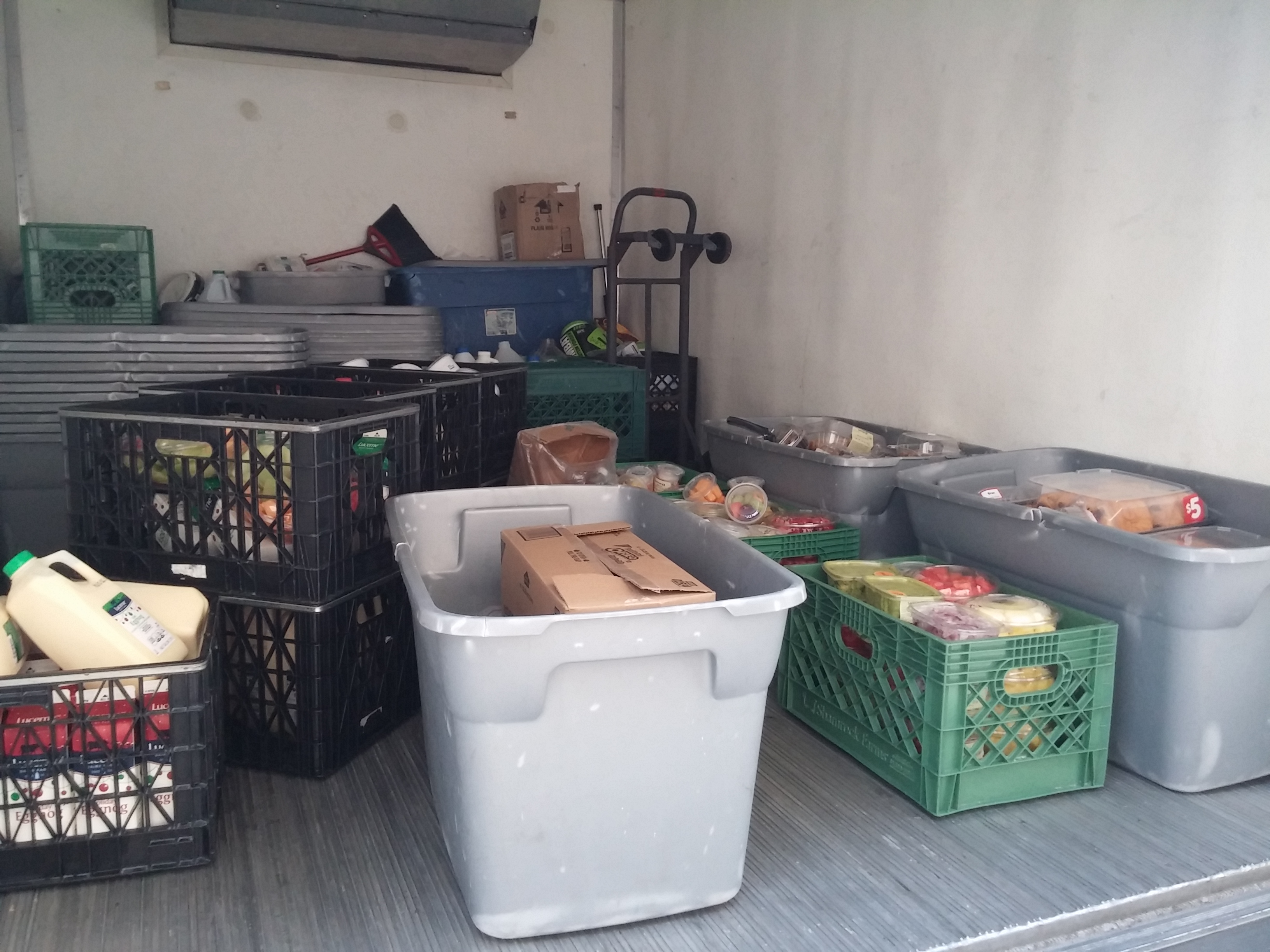 waste, food, truck, recovery