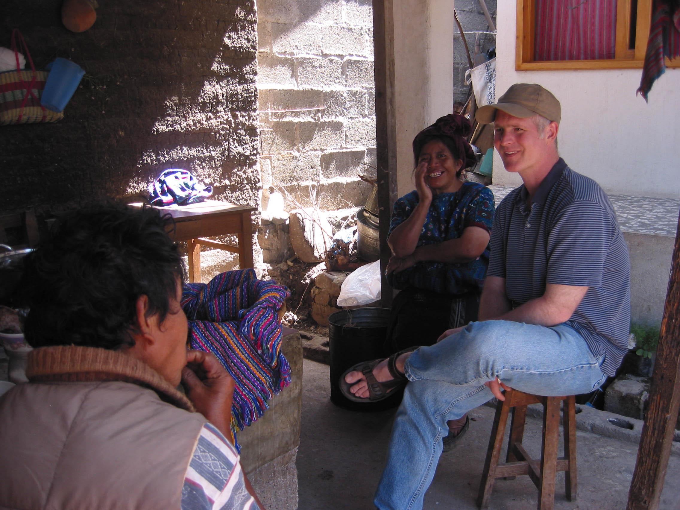 Prof. Walter Little (right) in Guatemala.
