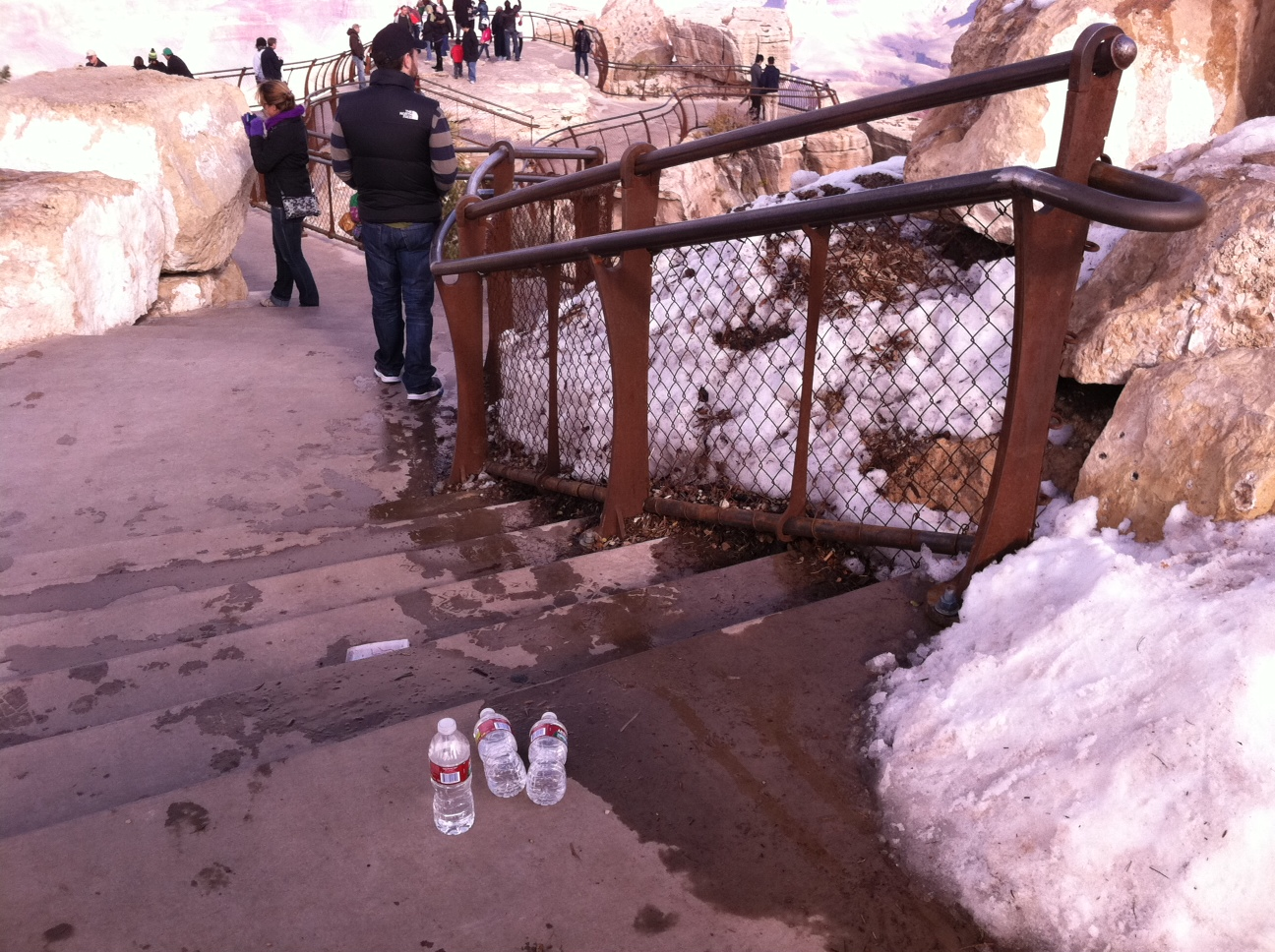 Disposable water bottles make up about 30 percent of the total waste stream at the Grand Canyon, according to the park.