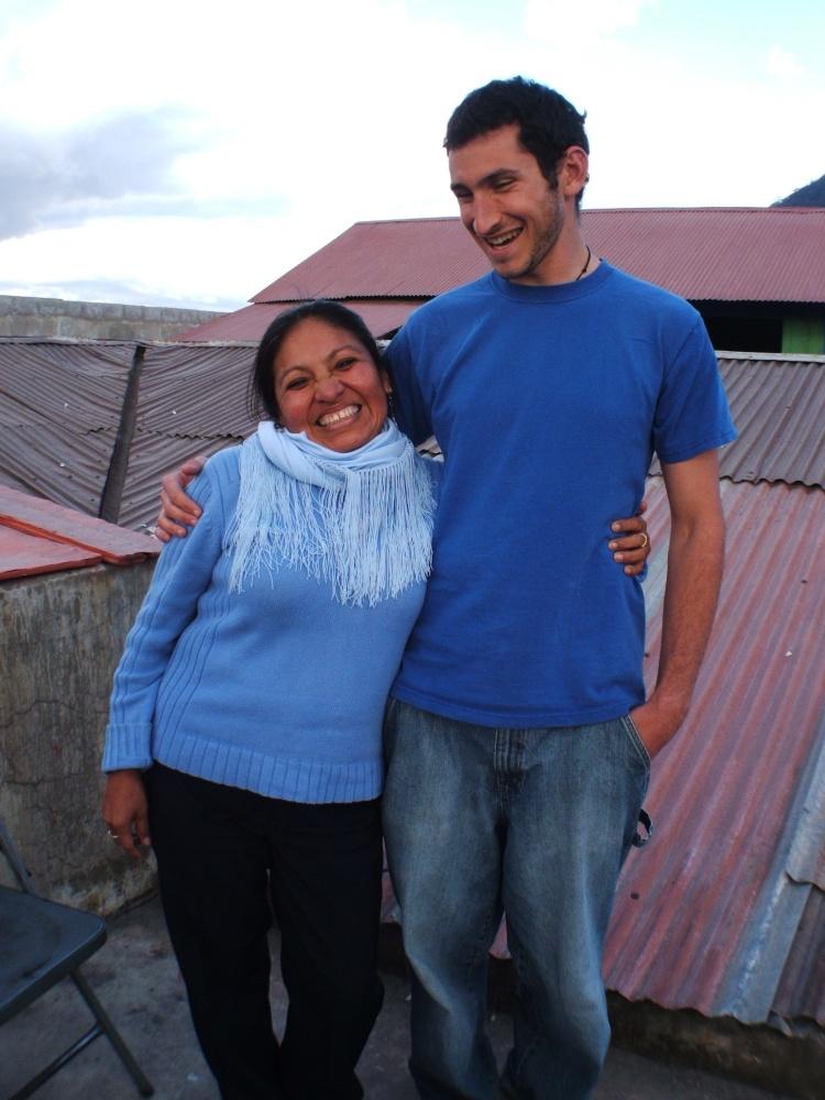 Adam Isaacs and his Spanish immersion teacher, Maria.