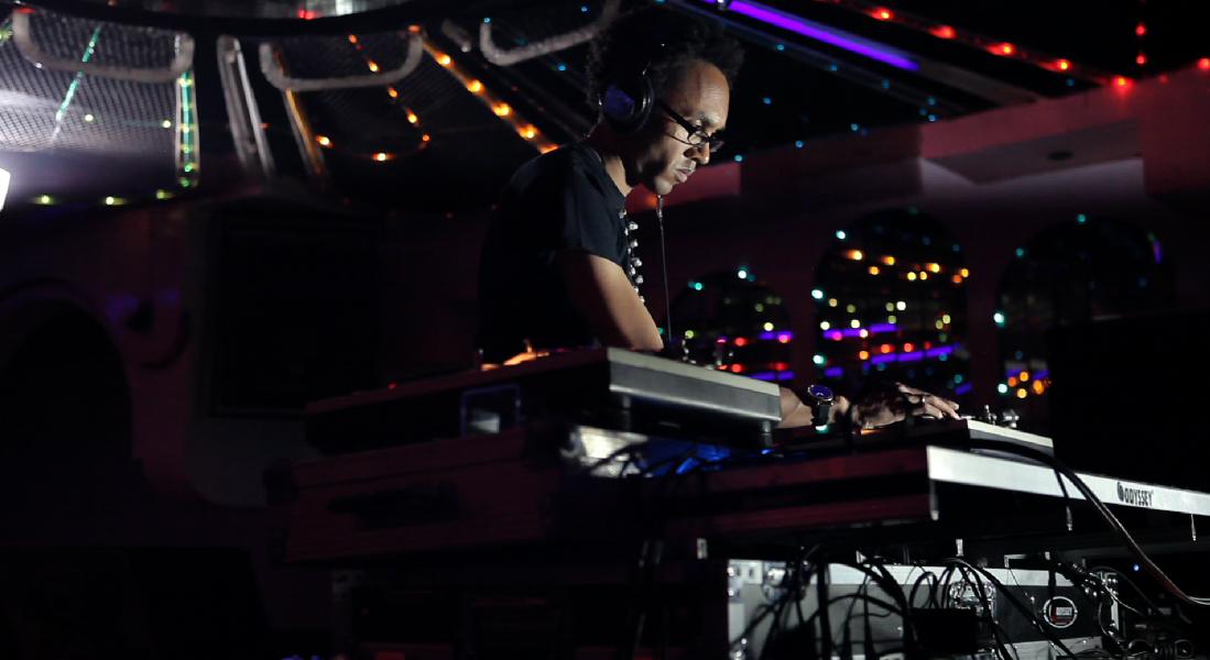 Jace Clayton, a.k.a DJ Rupture, mixes at Norte Sonoro's 2012 artist showcase in Tijuana.