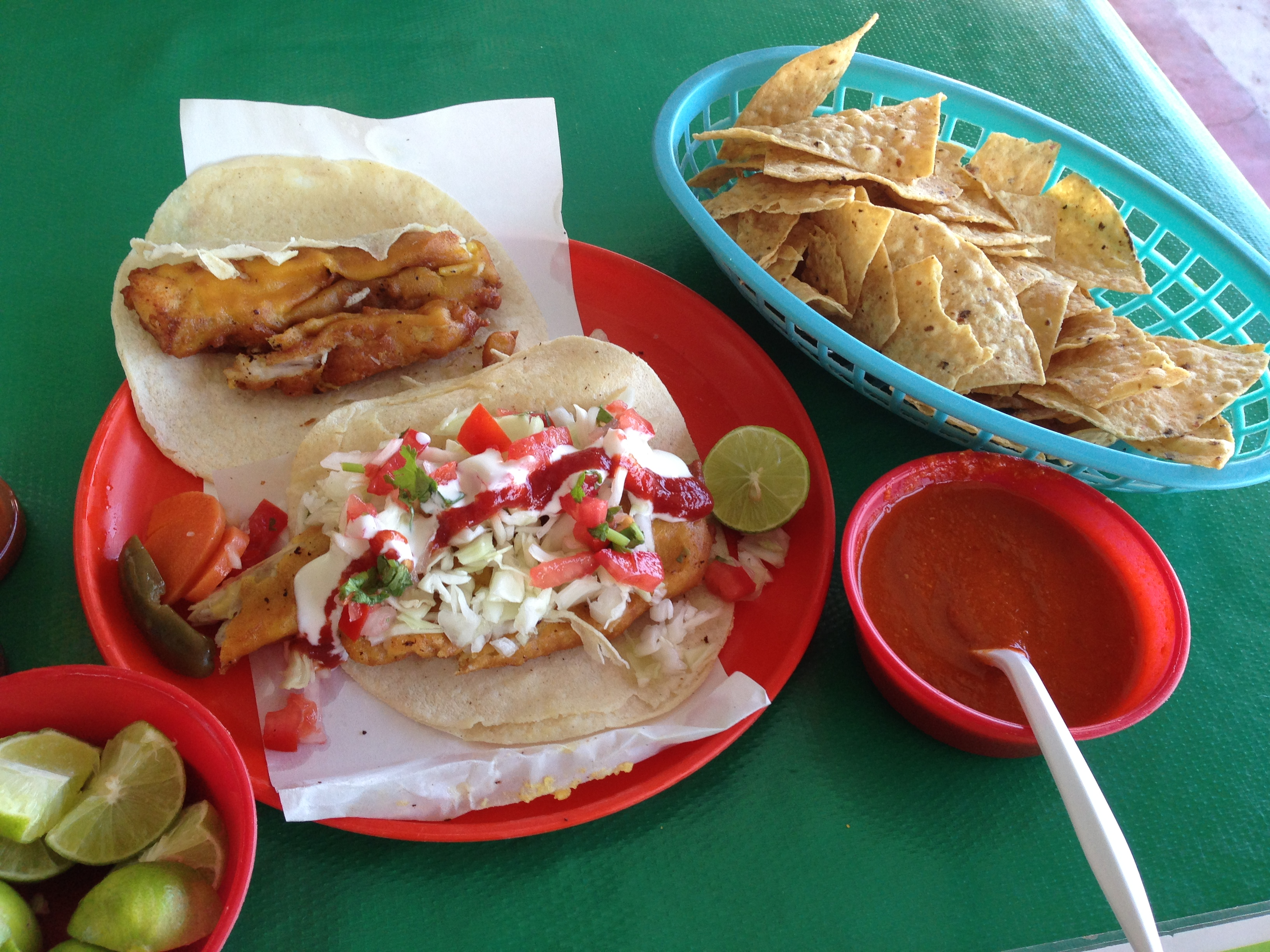 How fish tacos crossed the border fronteras for Adrian fish restaurant