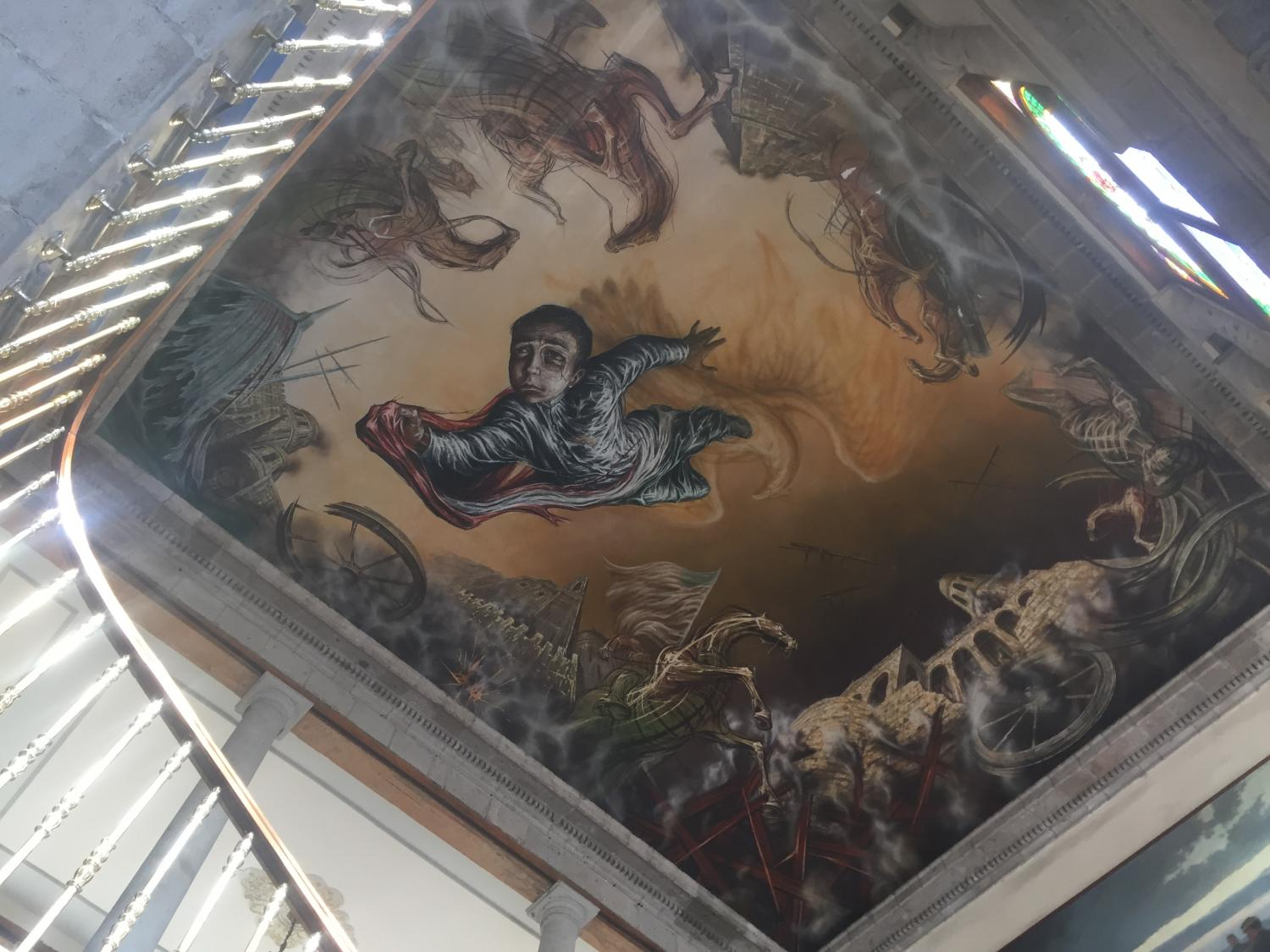 Sacrifice of the Child Heroes is a mural