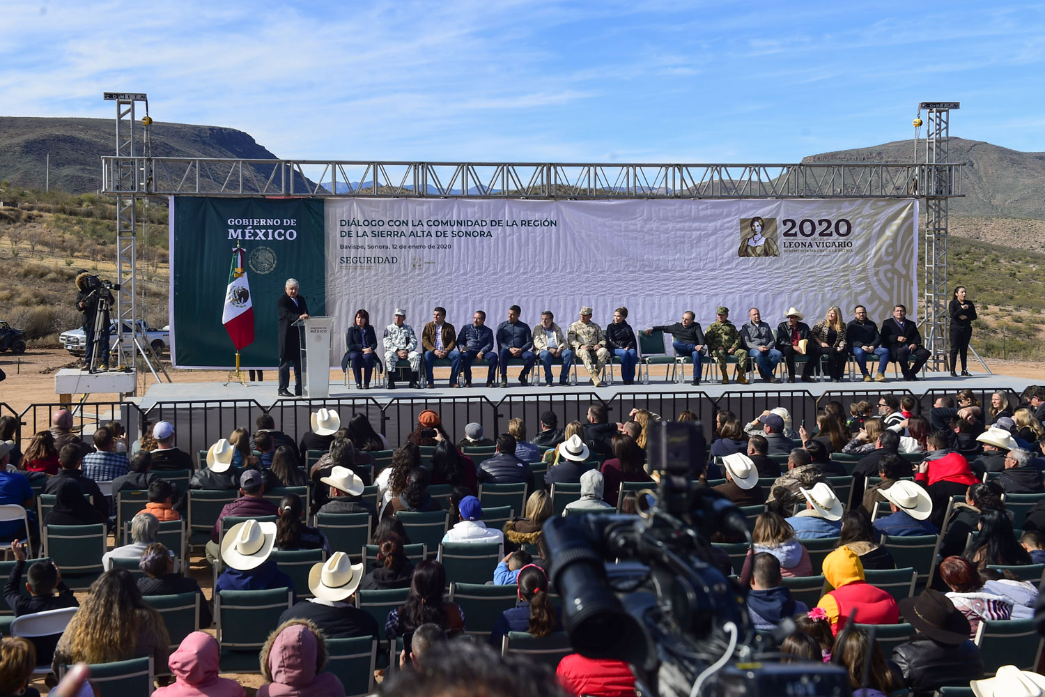 AMLO speaks in Bavispe
