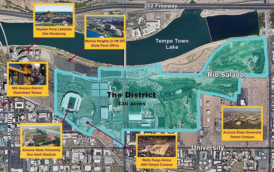 Arizona State University Tempe Campus Map.Master Developer Chosen For Asu S Athletic Facilities District Kjzz