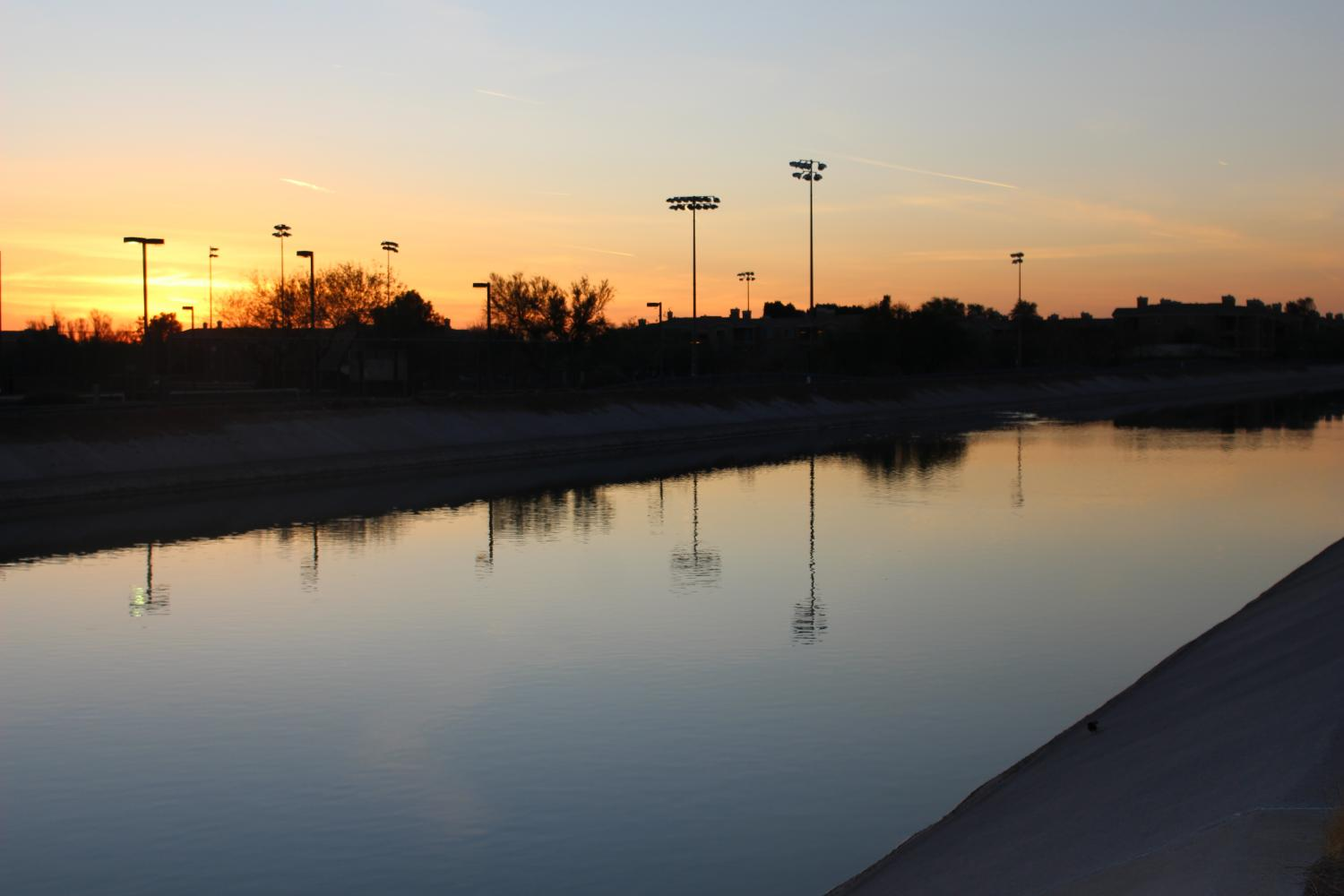 A Central Arizona Project canal in Scottsdale.