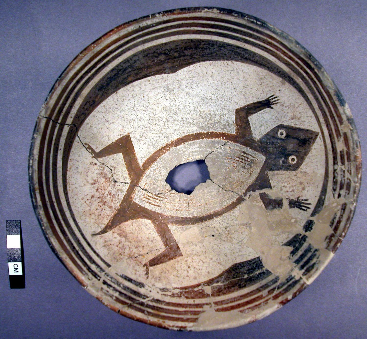 A Mimbres pottery image from the center's collection.