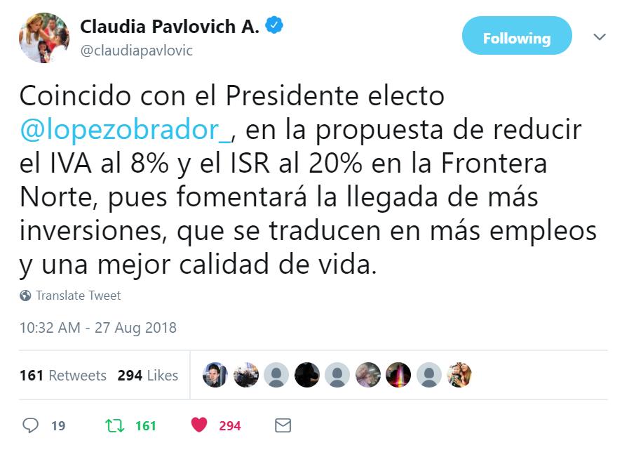 Pavlovich tweet